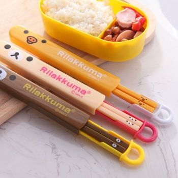 Camping Picnic Chopsticks Kit Tableware Lovely Chopsticks For Girls And Boys New