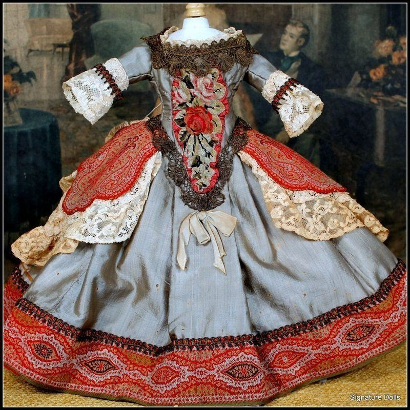 18th Century French Court Costume for Queen Anne Doll