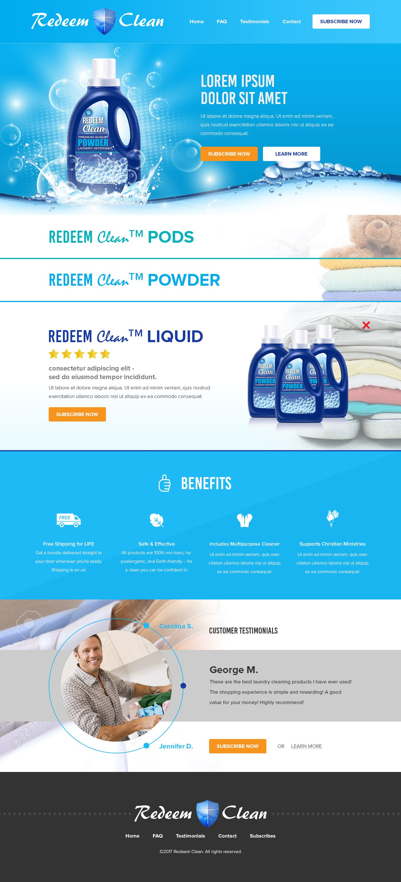 Redeem Clean Website Design Laundry Detergent Offered In Pods