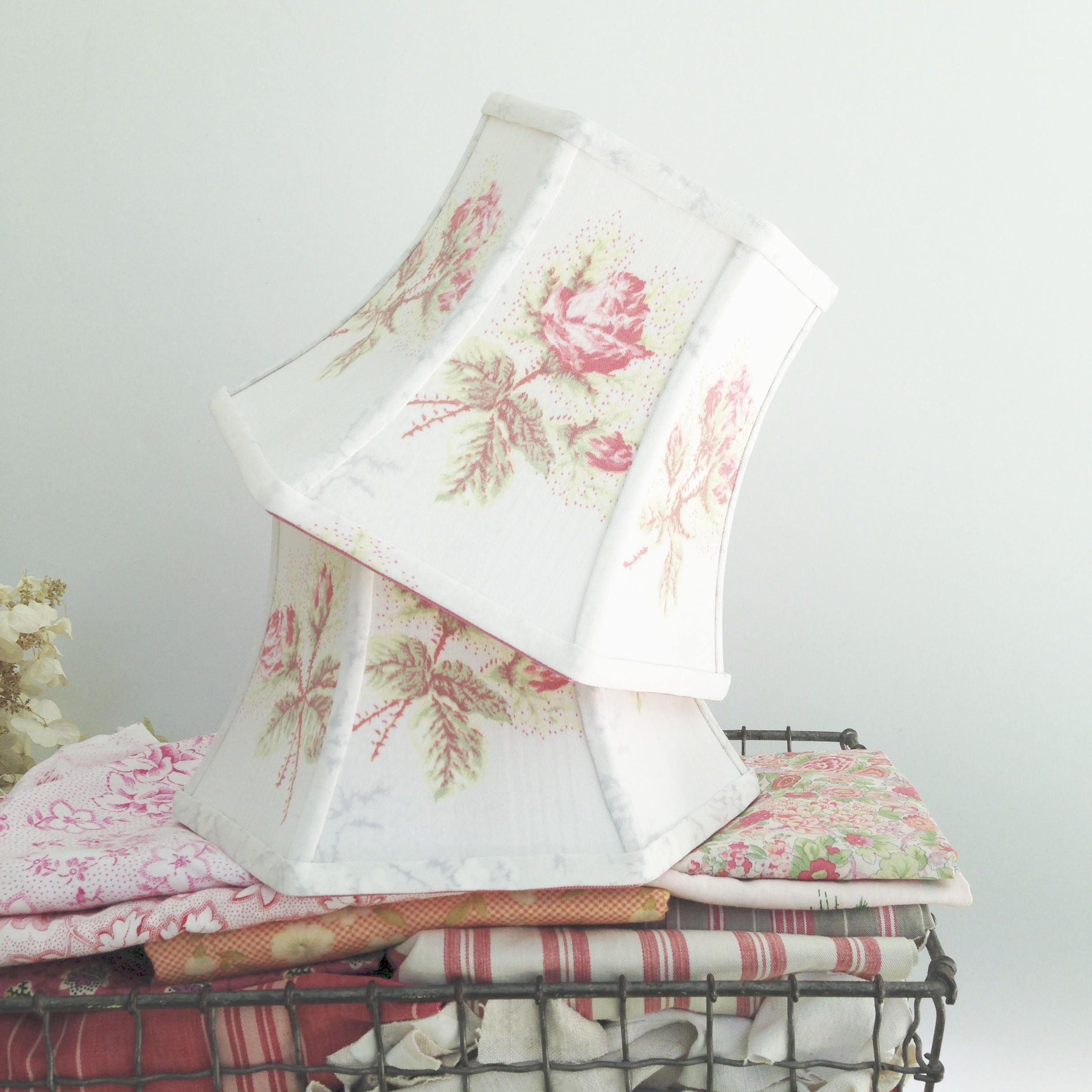 Romantic Lampshade Fabric Lamp Shade Vintage Flowers Shabby Chic