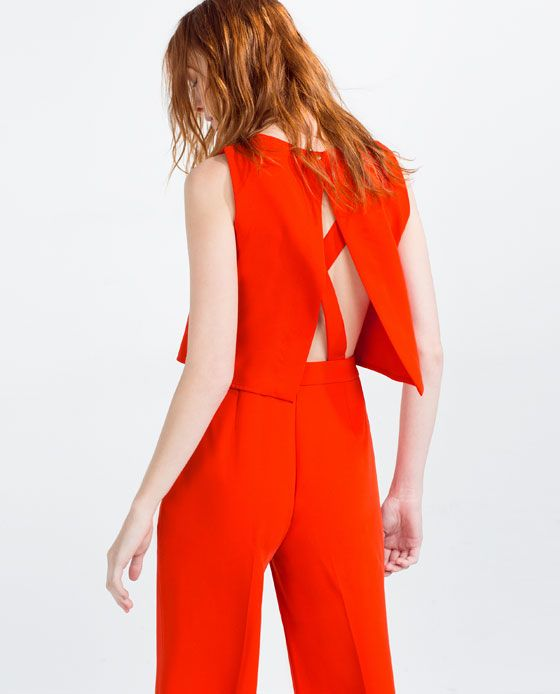 35a30c3e2c8 Image 4 of LONG LAYERED JUMPSUIT from Zara