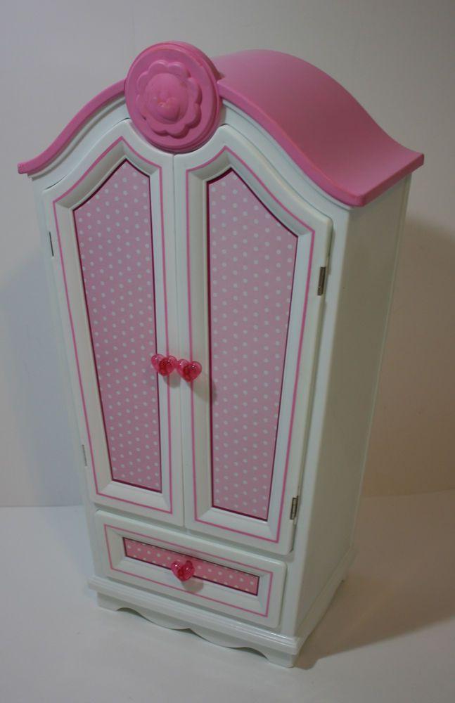 "Our Generation Doll Armoire Wardrobe Mirror Battat 11 x 6.25"" x 20""H Case #Battat"