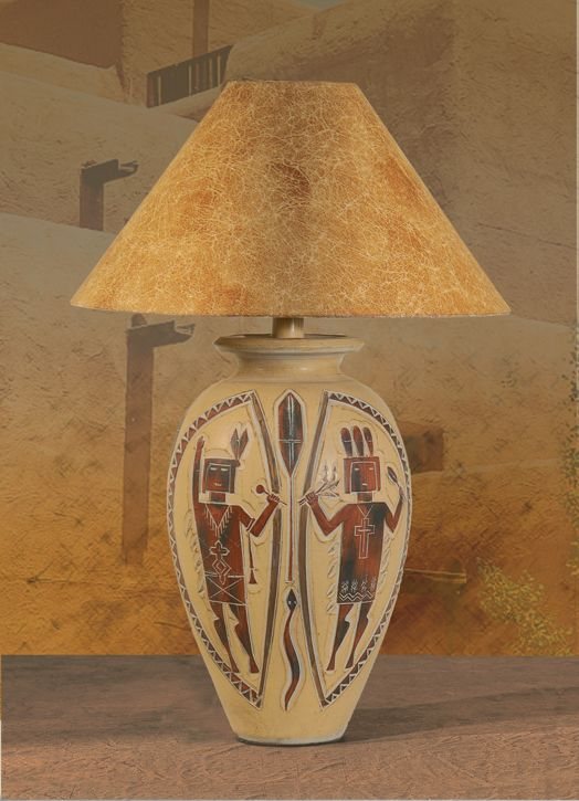 Southwestern Lamps, AH 6196 Southwest Native American Indian Style .
