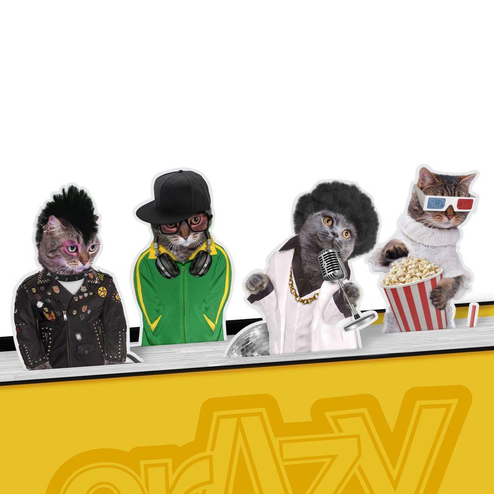#CRAZY #CATS #MAGNETIC #BOOKMARKS #Punk #Rocker #Disco #Lounge #Singer #DJ #3DMovie #Kitten #Mustard