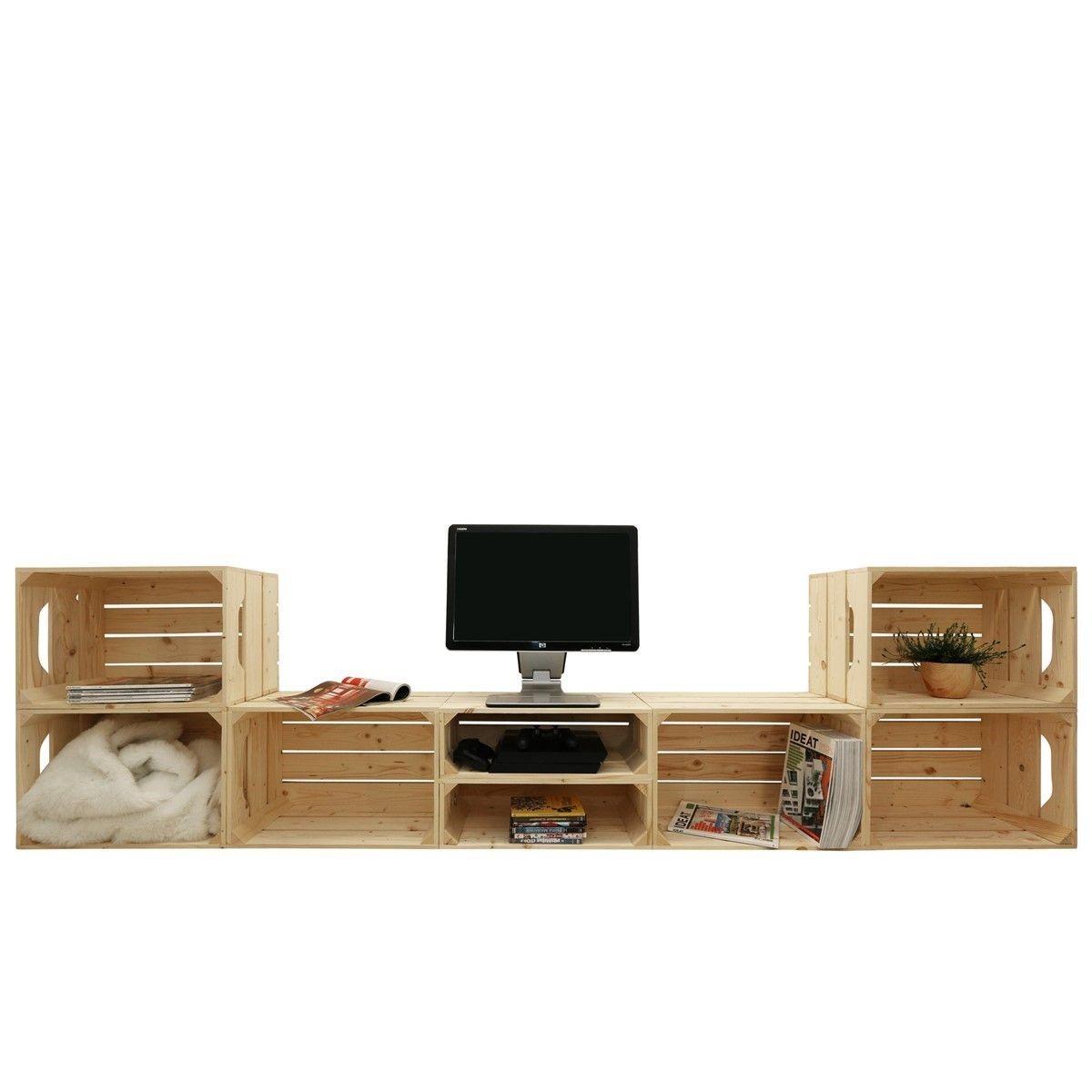 meuble tv modulable 8 niches de