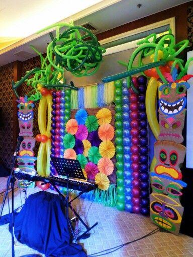 Luau Themed Stage Decor Luau Party Luau Theme Summer Parties