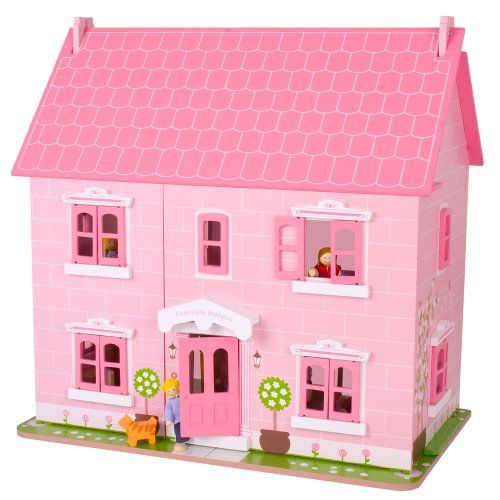 Fairview Manor Dollhouse By Bigjigs Toys On This One Is Pretty Cute Too. I  Wonder If I Could Handle This Much Pink Though?
