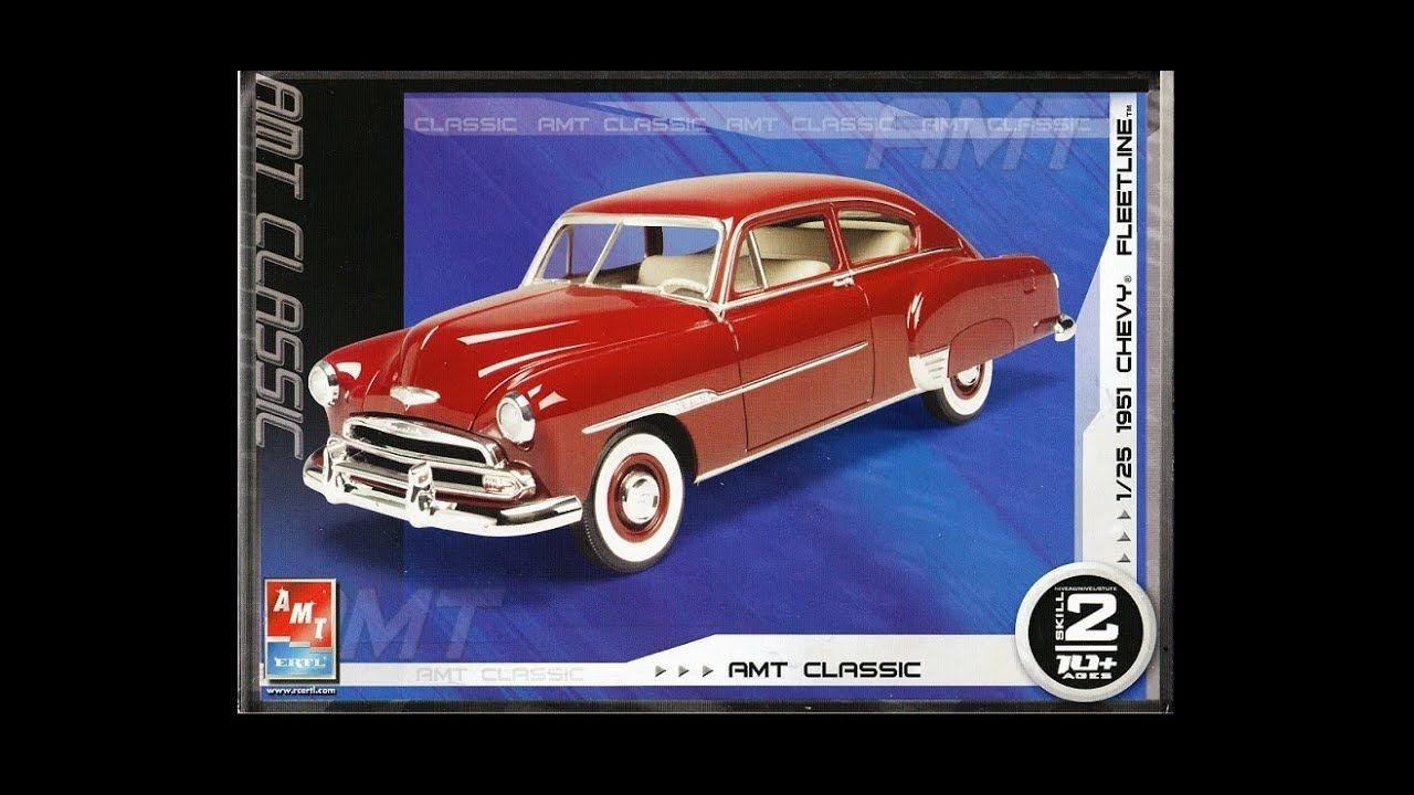 What S In The Box Amt 38274 1951 Chevrolet Fleetline Model Kit Model Kit Plastic Model Kits Chevrolet