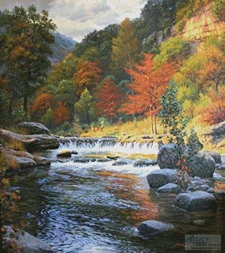 Autumn Serenity  Cushion  Cross Stitch Pattern