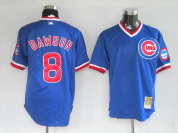 Mitchell and Ness 1987 Cubs  8 Andre Dawson Stitched Blue Throwback MLB  Jersey 347f85aae