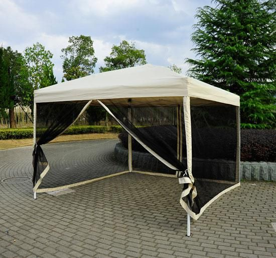 Buy 10u0027 x 10u0027 Easy Pop Up Canopy Tent With Mesh Screen Side Walls : canopy tent with screen sides - memphite.com