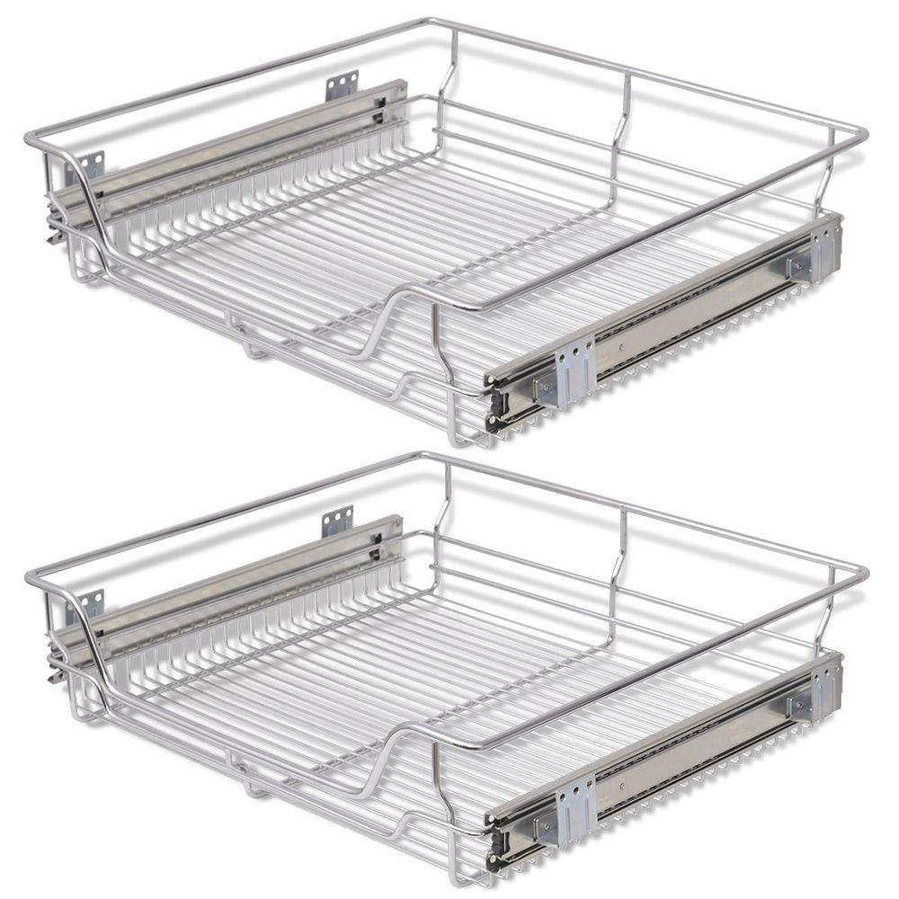 Kitchen Wire Baskets Base Larder Pull-Out Units Storage Organizer ...