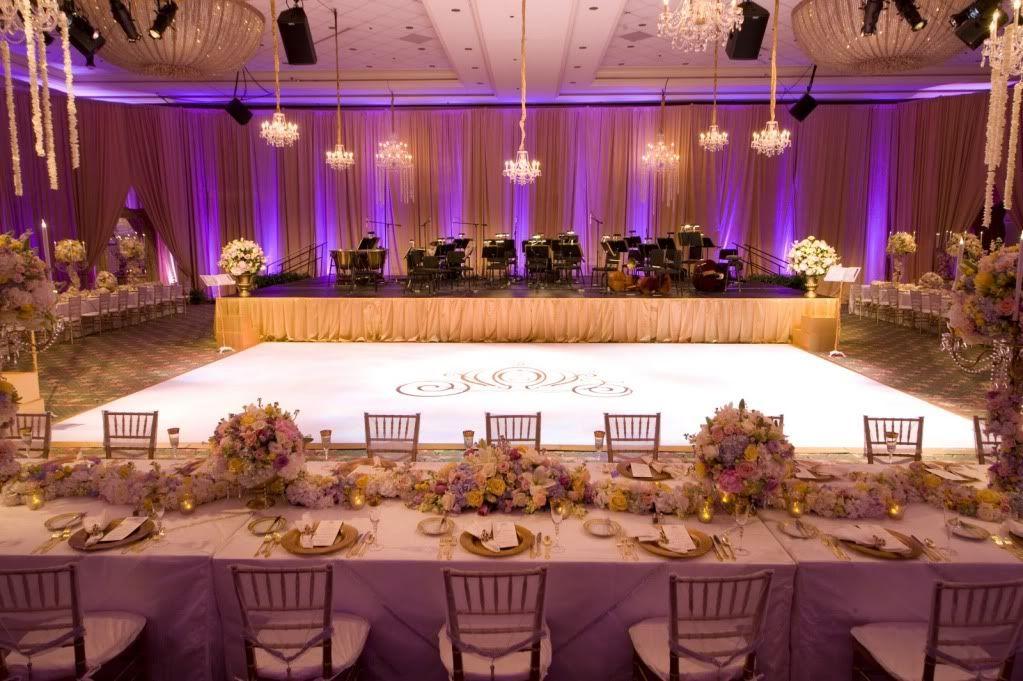 Disney Wedding Reception Boardwalk Inn Ballroom White Dance Floor