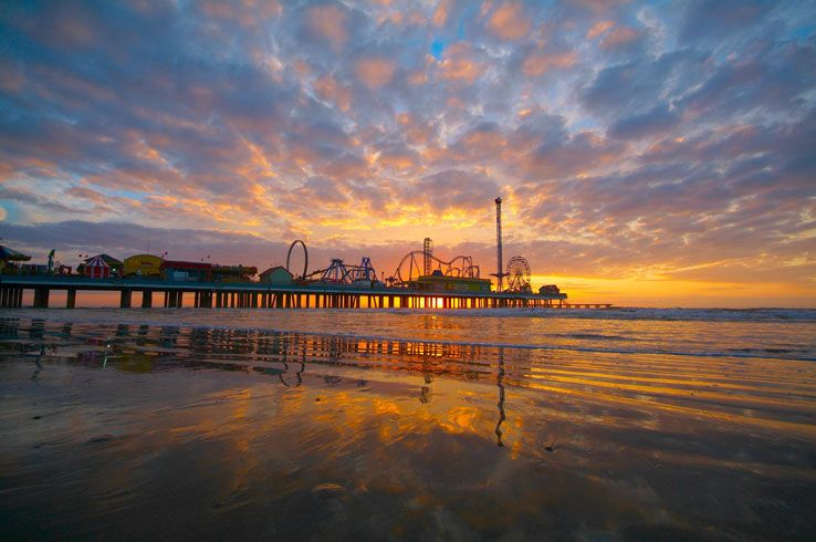 Galveston Seawall Beach Texas