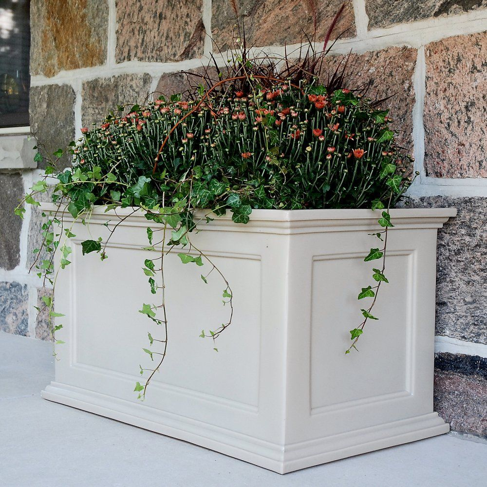 Mayne Rectangle Polyethylene Fairfield Patio Planter Form Borders Of Natural Beauty And Vibrant Color On Your Or Deck With This Traditional