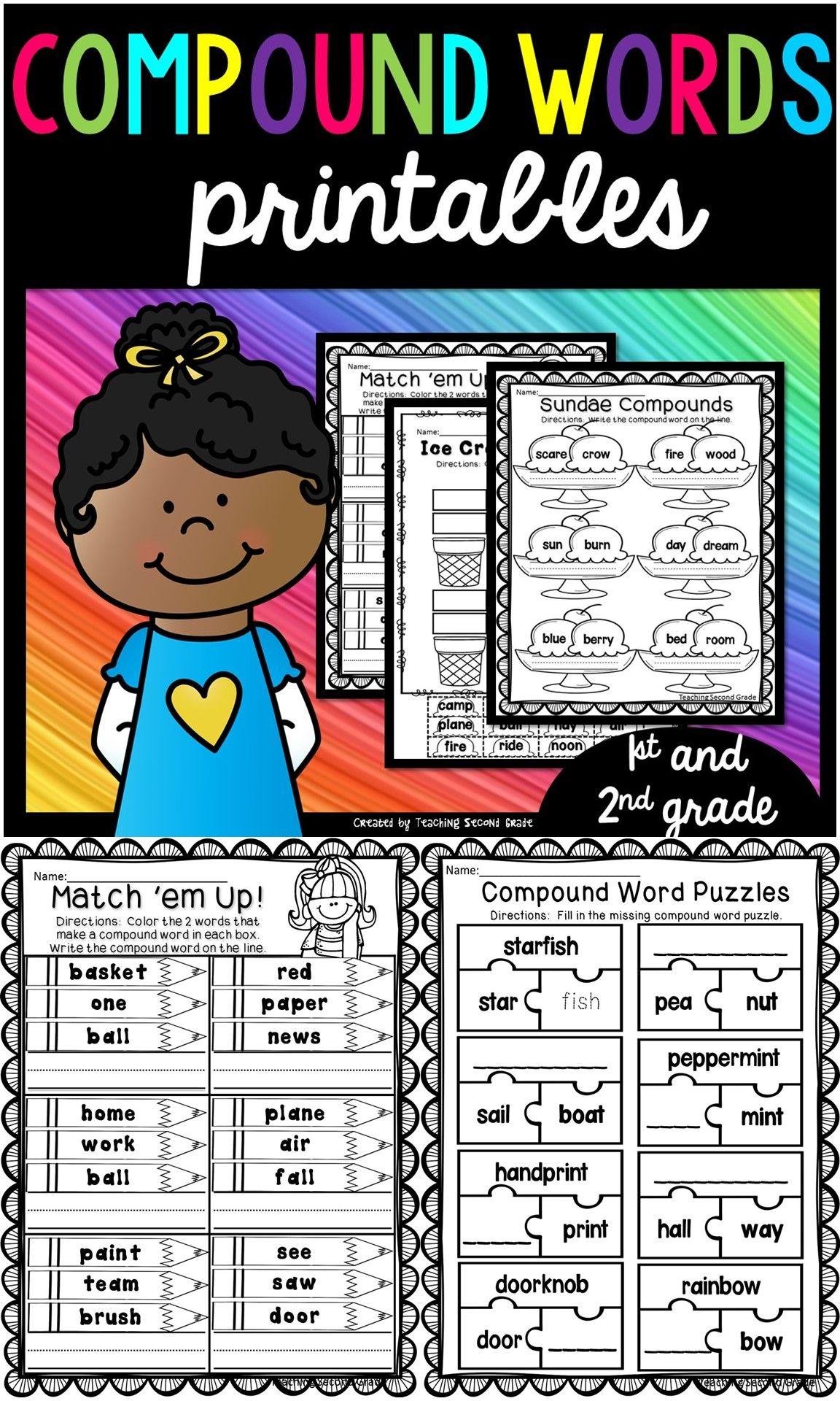 Compound Words Worksheets Compound Words Compound Words Worksheets Compound Words Activities