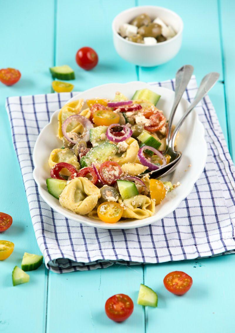 Griechischer Tortellini Salat #griechischersalat