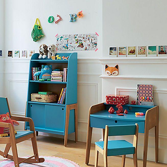 Vintage Petit Bureau Vintage Bleu Pour Enfant Chambre Enfant Deco Chambre Enfant Et Bureau Enfant