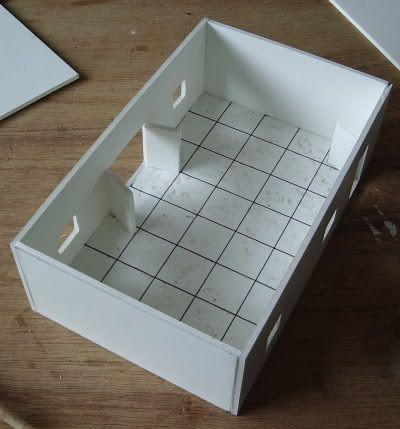 Tuto r aliser des b timents en carton plume papier s il vous pla t carton plume carton - Fabrication maison en carton ...