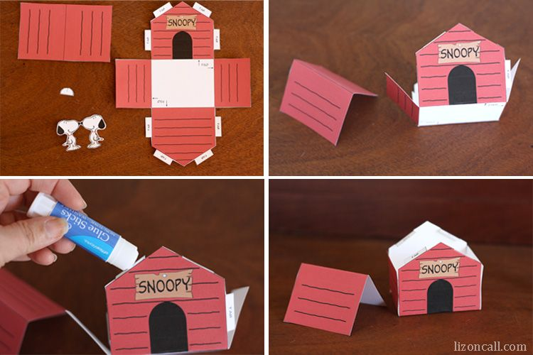 Printable Snoopy Dog House Kid Craft Snoopy Birthday Snoopy
