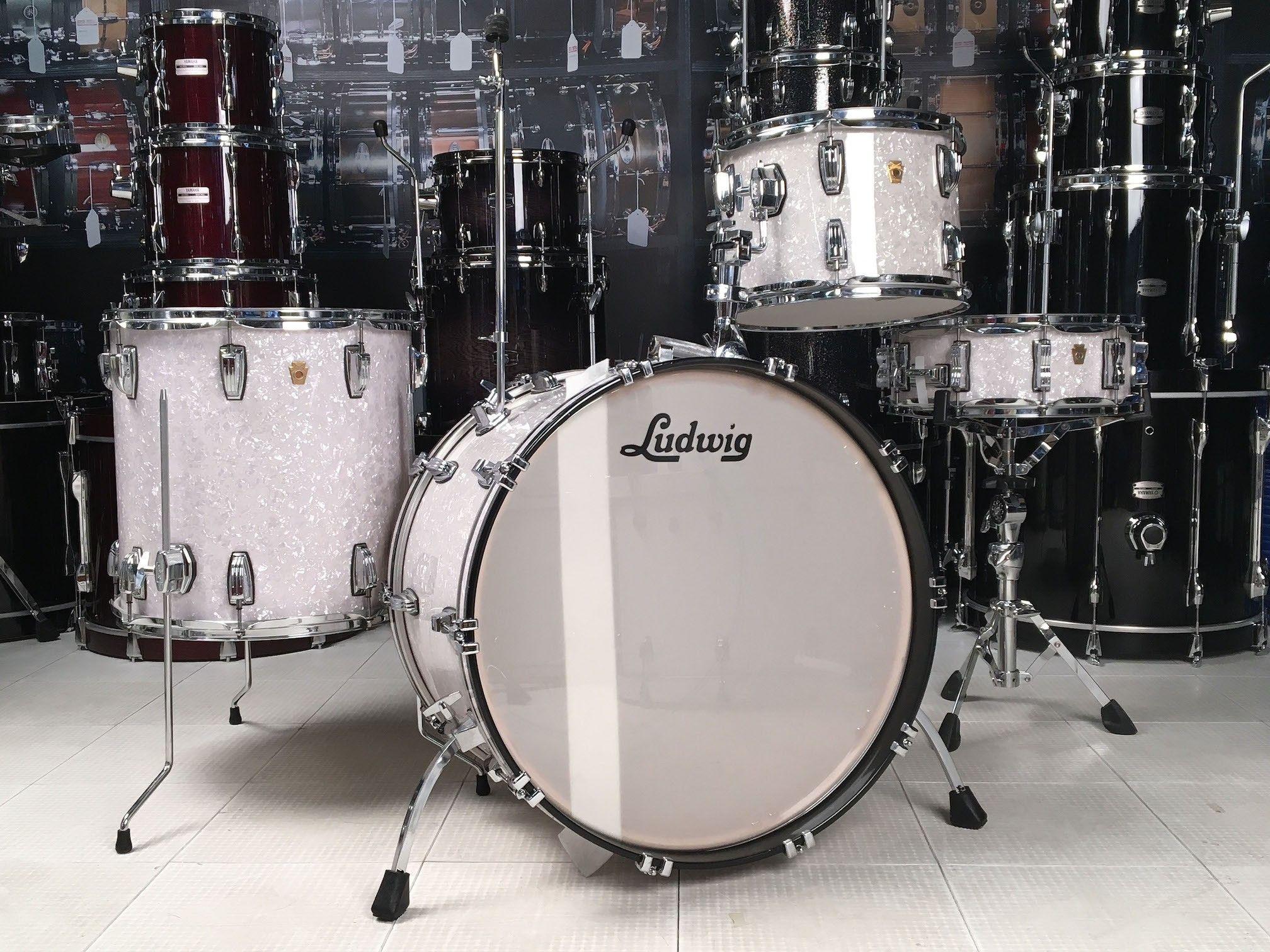 used ludwig legacy 4pc drum set white marine pearl drum kits in 2019 pinterest drums. Black Bedroom Furniture Sets. Home Design Ideas