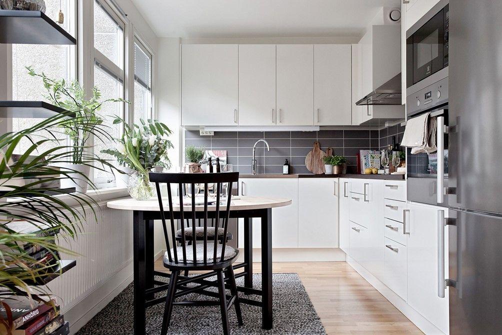 cocina blanca - 40 metros cuadrados de estilo contemporáneo | A ...