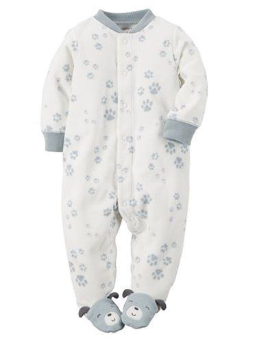 284db7595ed2 NWT Carter s Dog Puppy Micro Fleece Footed Sleeper Baby Infant Boys ...