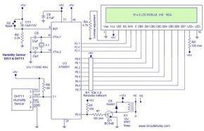 Humidity Sensor Circuit Diagram | Humidity Sensor Using 8051 Circuits Pinterest Humidity Sensor