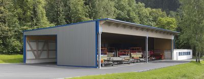 Gut bekannt Maschinenhalle mit Trapezblech Dach und Wand | Trapezblech CG15