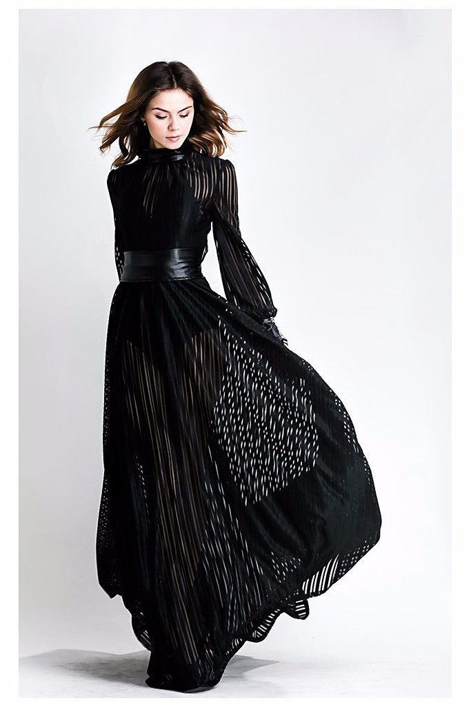 58f4907e72b Description  Sexy Long Sleeves Open Back Evening Gown. Style  Sexy ...