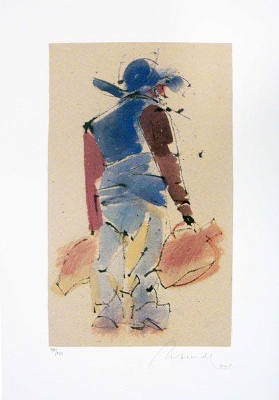 Serigrafia – JÚLIO RESENDE  |  ALENTEJO  -  54,0 x 38,0 cm  |  Numeradas de 1/150  a 150/150  (mancha 33,5 x 20,0 cm) | 310€