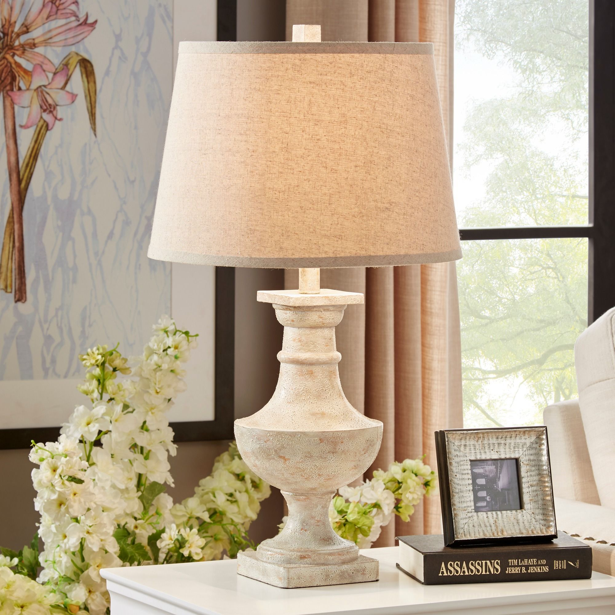 Hyperion Sanded Off-white 1-light Accent Table Lamp by iNSPIRE Q Artisan by  iNSPIRE Q
