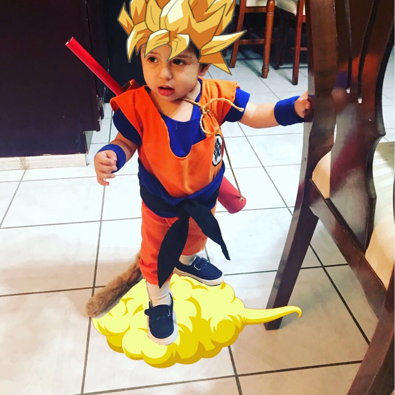 Bebe Goku Disfraz Pelo Largo Niño Sayajin Disfraz De Goku Disfraz Bebe Goku Bebe