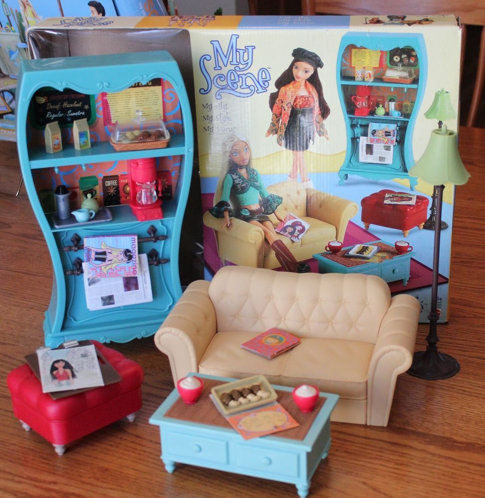 My Scene Barbie My Cafe Playset Euc Complete In Original Box  # Oohlala Muebles Y Accesorios Infantiles