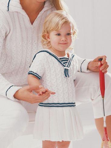 Sailor Dress Yarn Free Knitting Patterns Crochet Patterns