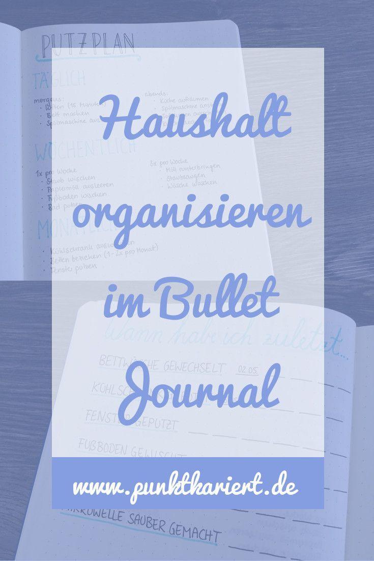 Haushalt organisieren im Bullet Journal mit Putzplan & Co #augustbulletjournal