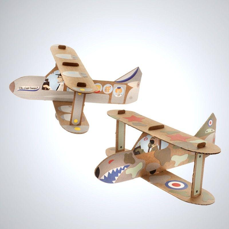 Super Avions en carton kraft à construire pour les enfants dès 4 ans  GB87