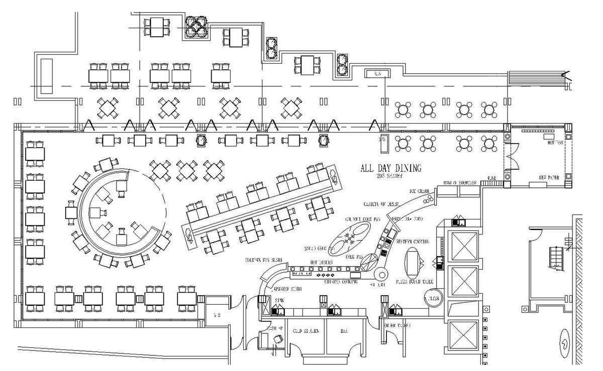 Pull man Sanya Hotel in 2020 Restaurant plan, Hotel