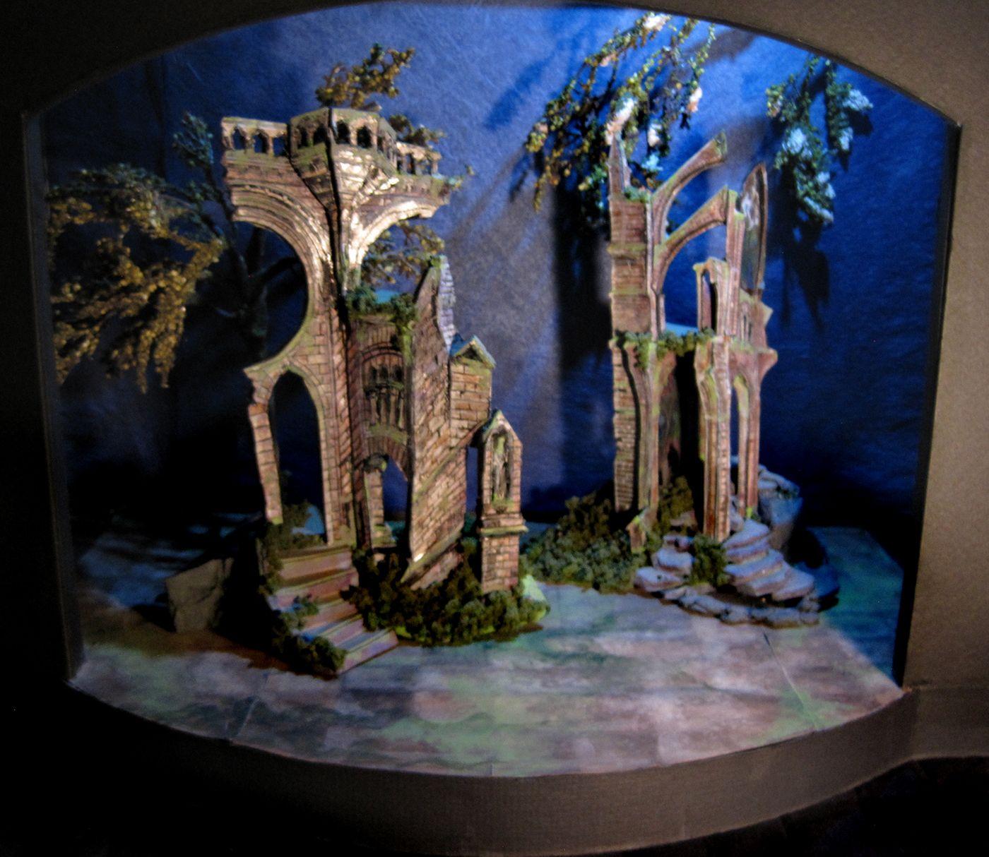 Conceptual Set Design For A Midsummer Nights Dream Color Model