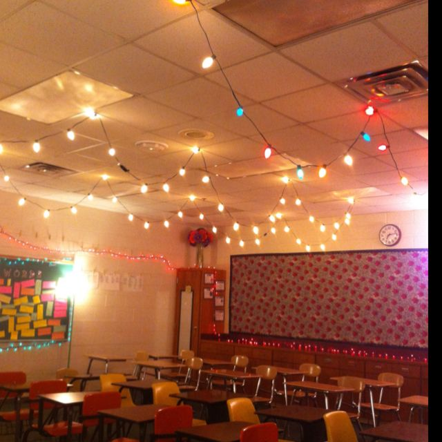 Lights Hung In The Classroom! Love Them!