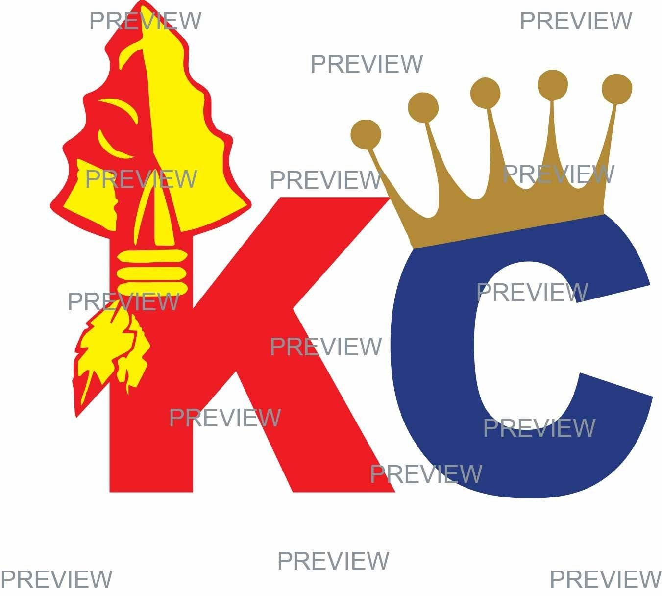 Kc Chiefs Royals Logo Kansas City Sports Logo Svg Diy Kc