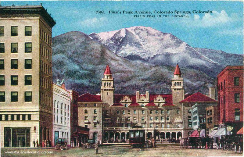 Colorado springs colorado pikes peak avenue antlers hotel colorado springs co malvernweather Images
