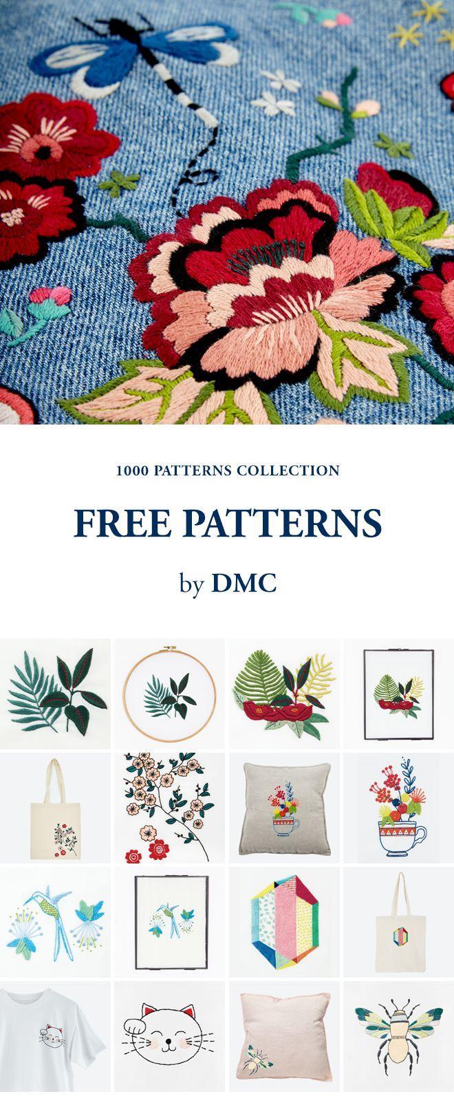 FREE EMBROIDERY AND CROSS STITCH PATTERNS by DMC. | Cross Stichin ...