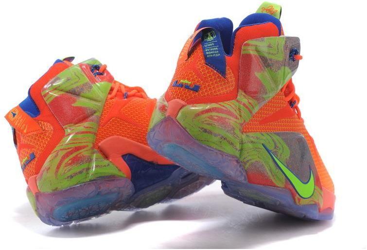 Lebron 12 Orange Neon Green | Nike