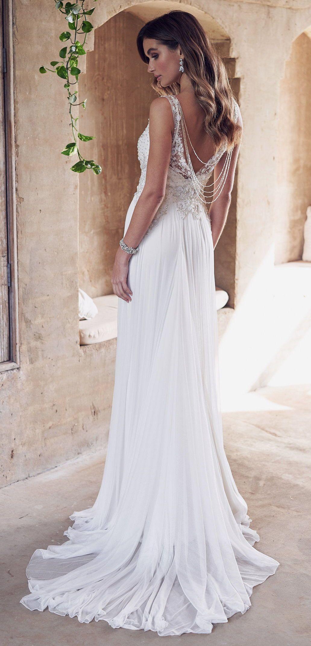 Romantic And Sparkling All Things Vintage Inspire Bridal Gown Stunning Custom Designed Cream Greek Wedding Dresses Wedding Dress Inspiration Wedding Dresses