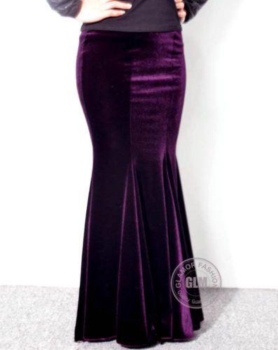 Skirt Mermaid \\ Royal blue mermaid skirt \\ skirt velvet basque \\ velvet maxi skirt \\Velvet dark blue \\ skirt with velvet bow \\ holiday Skirt