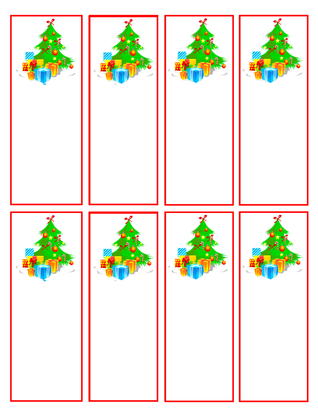 Christmas Bookmark Templates  Christmas Printable Bookmarks