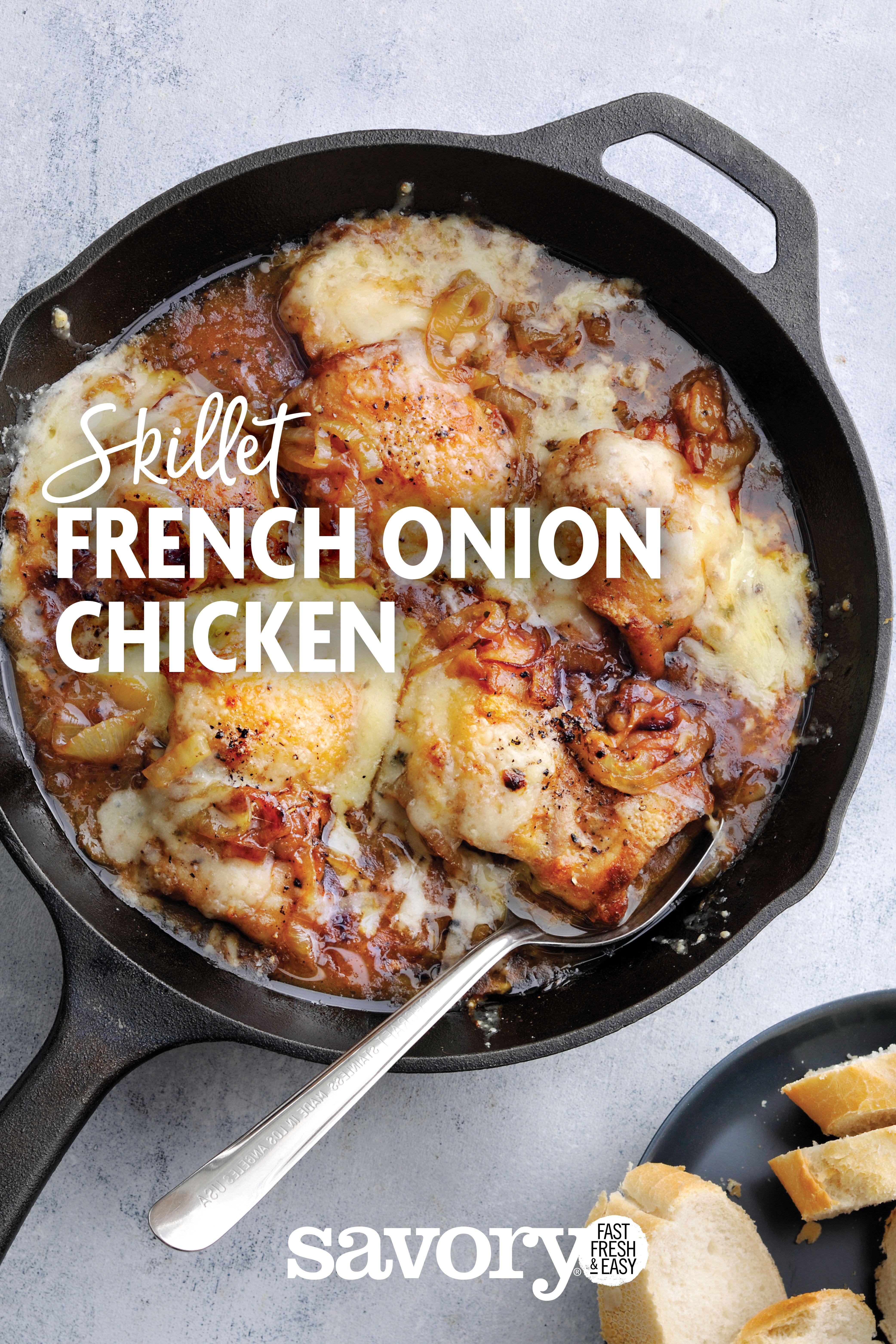 French Onion Chicken Savory Recipe Chicken Dinner Recipes Chicken Recipes Recipes
