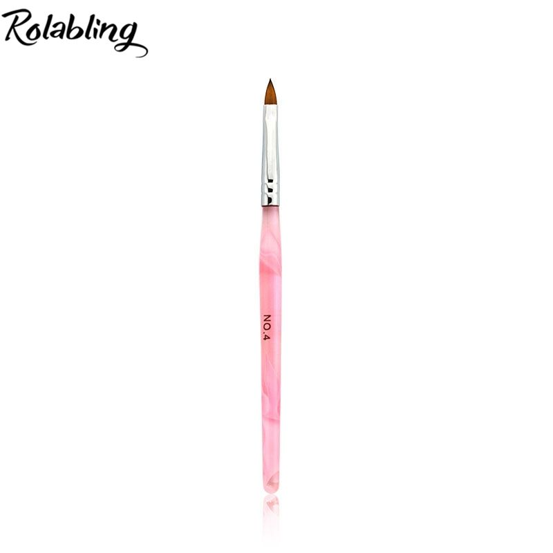 Fashion 4 Marble Pink Nail Art Brush Uv Gel Acrylic Design Builder