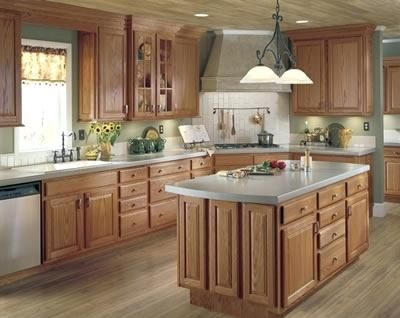 Modern Country Kitchen With Oak Cabinets Novocom Top